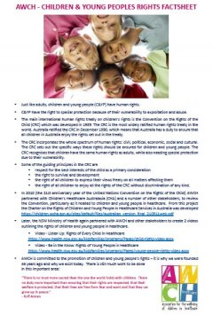 AWCH Children and Young People's Rights Factsheet